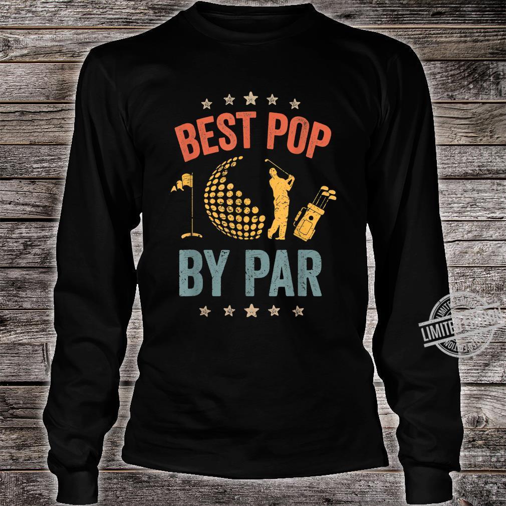 Mens Vintage Best Pop By Par Father's Day Golf Shirt Shirt long sleeved
