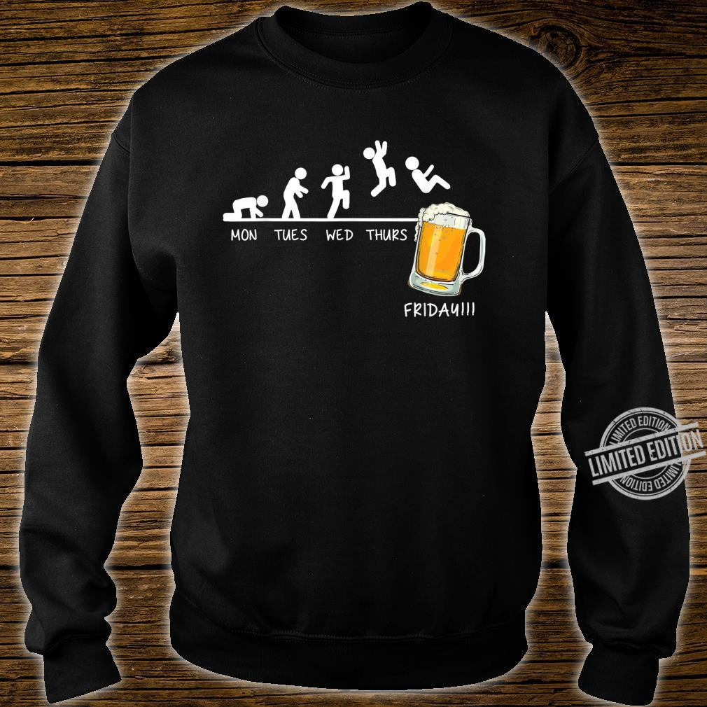 Monday Tuesday Wednesday Thursday Friday Beer Drinking Shirt sweater