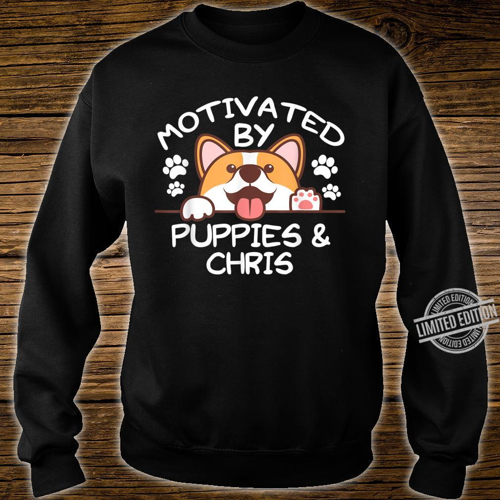 Motivated By Puppies And CHRIS For CHRISS Shirt sweater