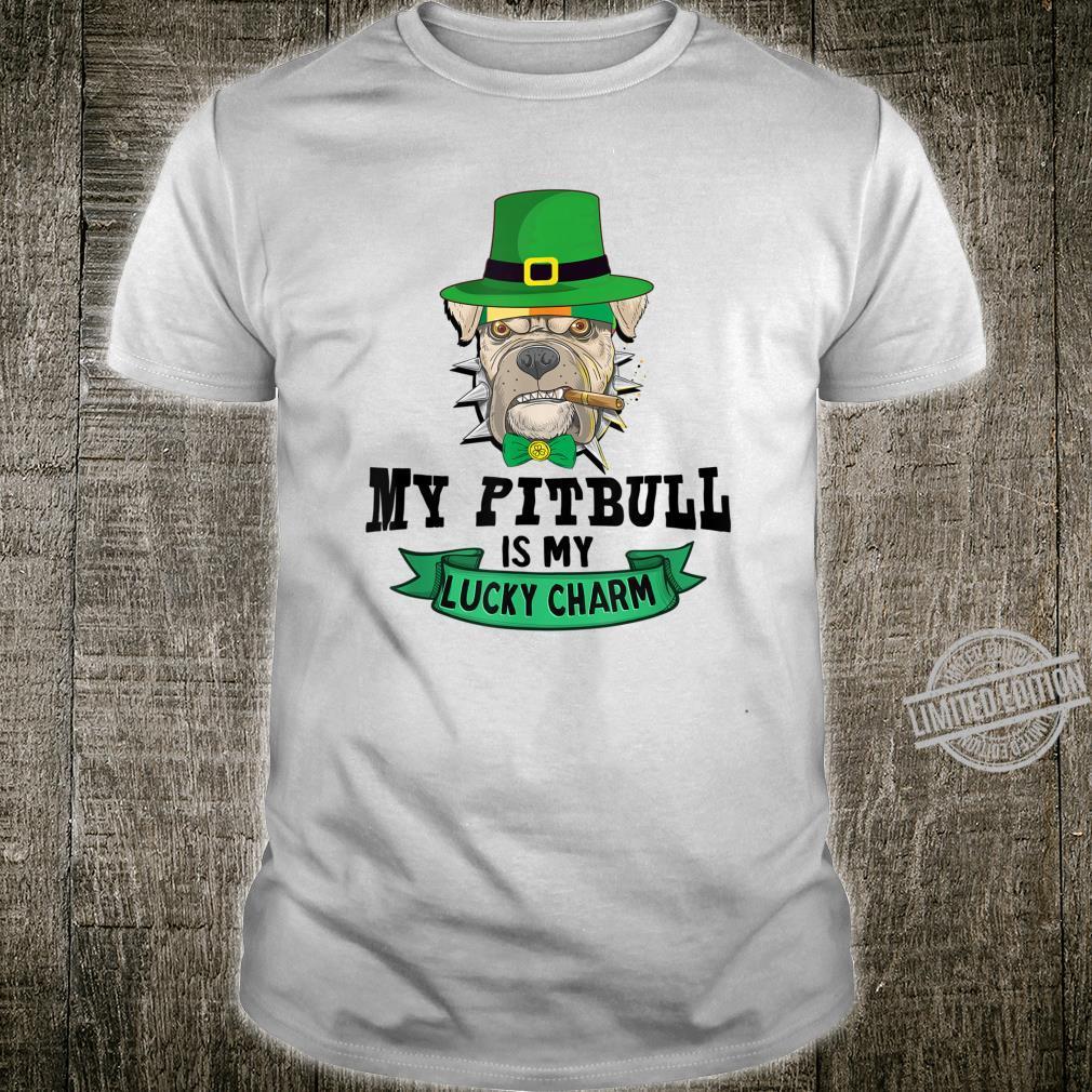 My Pitbull Is My Lucky Charm Pitbull St Patrick's Day Shirt