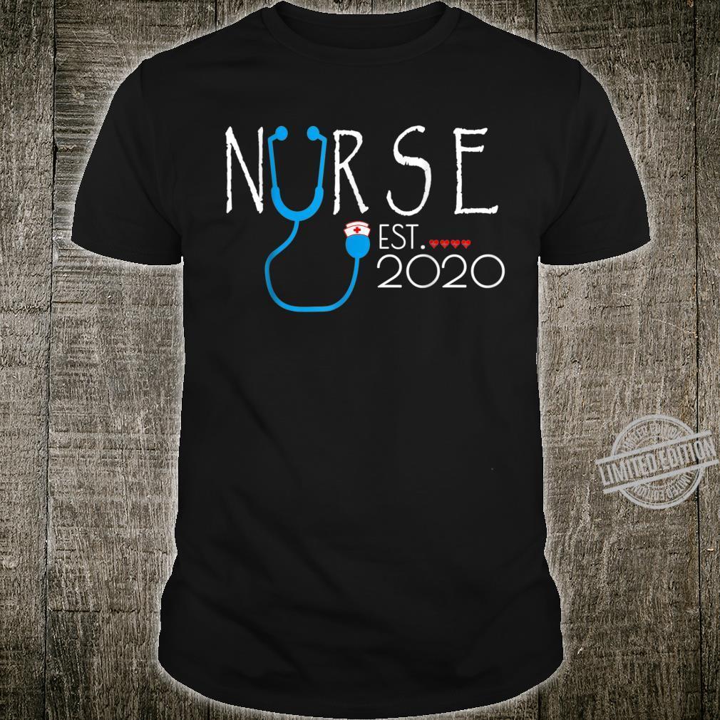 Nurse Est 2020 RN Nursing School Graduation Graduate Shirt