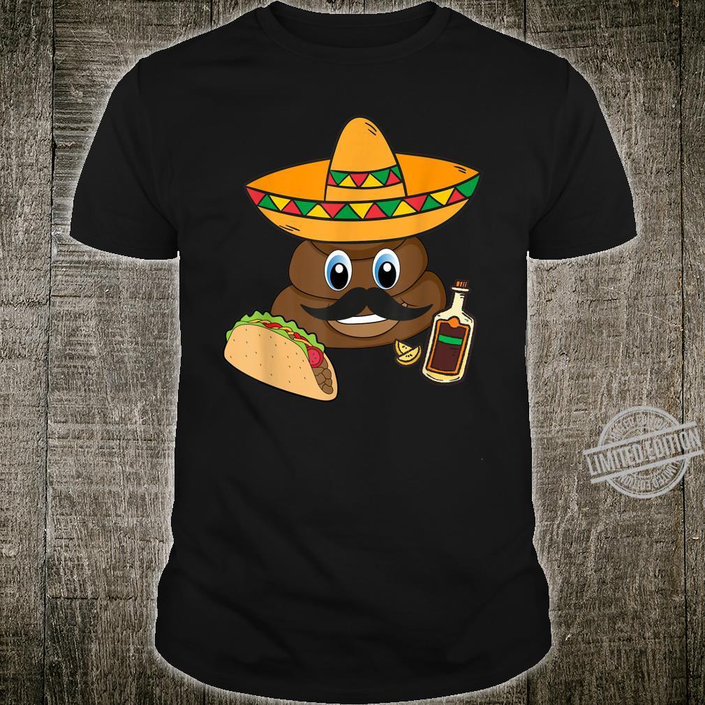 POOP Emoticon Cinco De Mayo Mexican Sombrero Hat Shirt