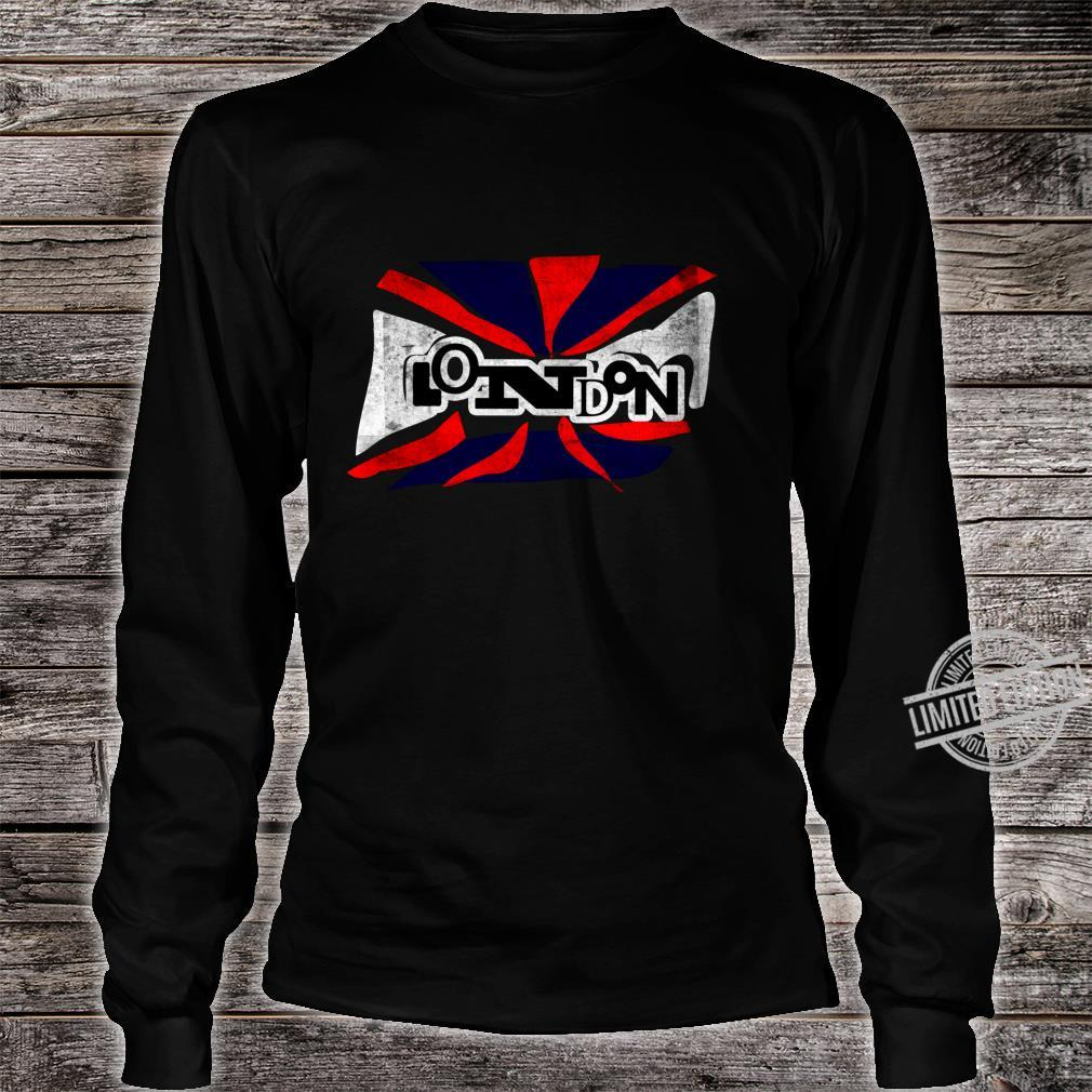 Punk London Union Jack Flagge für Männer Frauen Shirt long sleeved