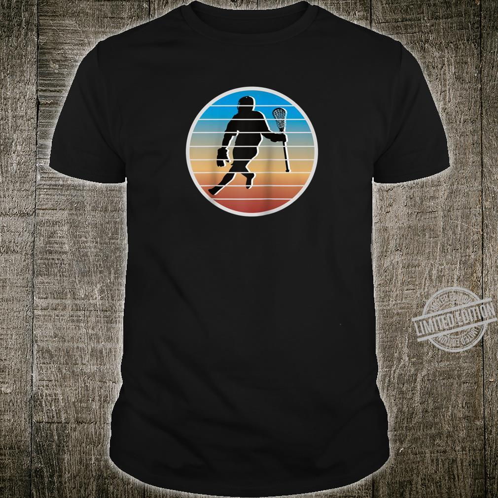 Retro Lacrosse Player fors of Lacrosse Shirt