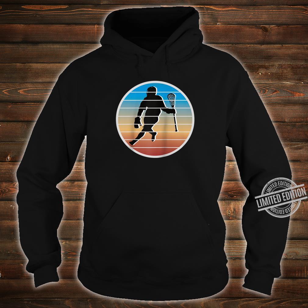 Retro Lacrosse Player fors of Lacrosse Shirt hoodie
