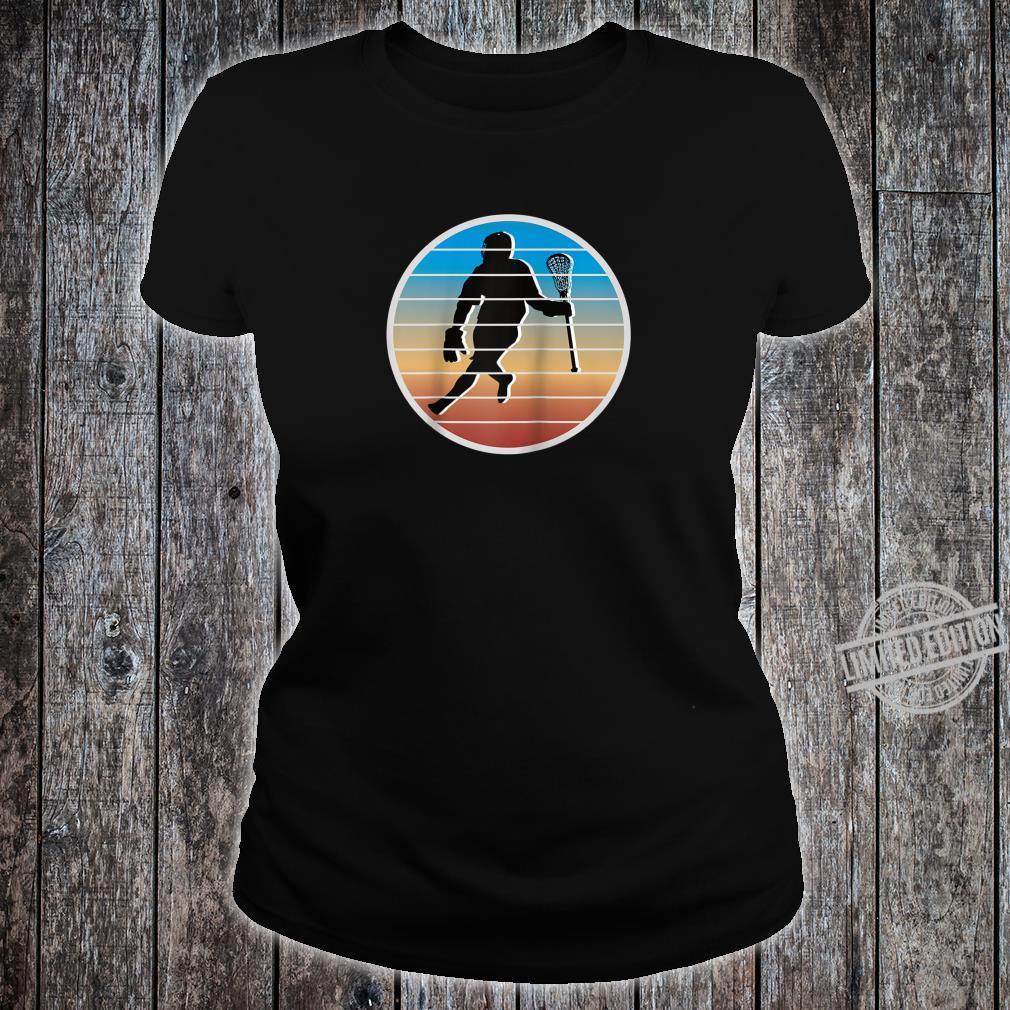 Retro Lacrosse Player fors of Lacrosse Shirt ladies tee
