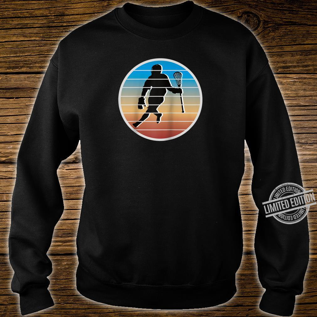 Retro Lacrosse Player fors of Lacrosse Shirt sweater