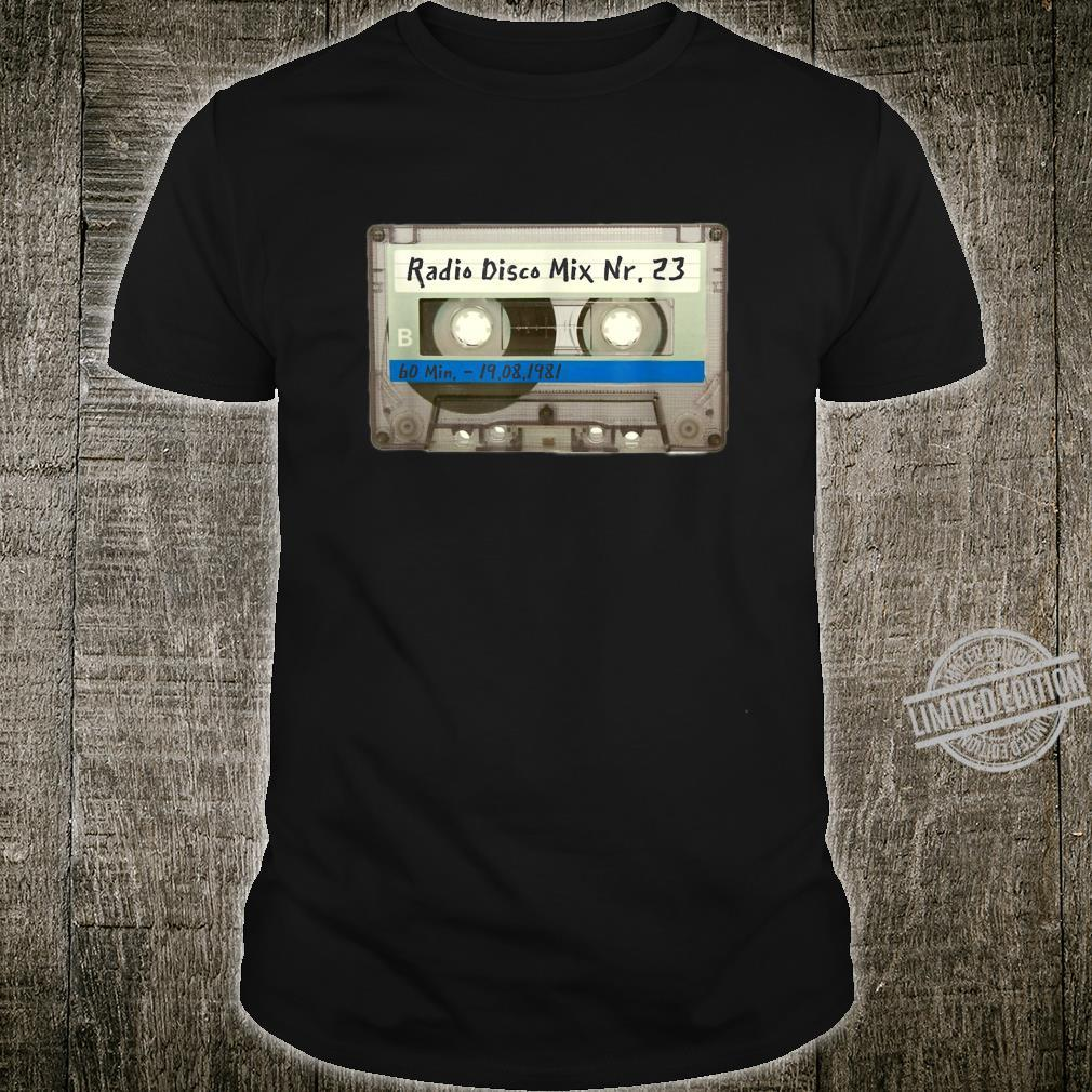 Retro Musik DJ Kassetten Motiv 80er 90er Jahr SXXXL Shirt