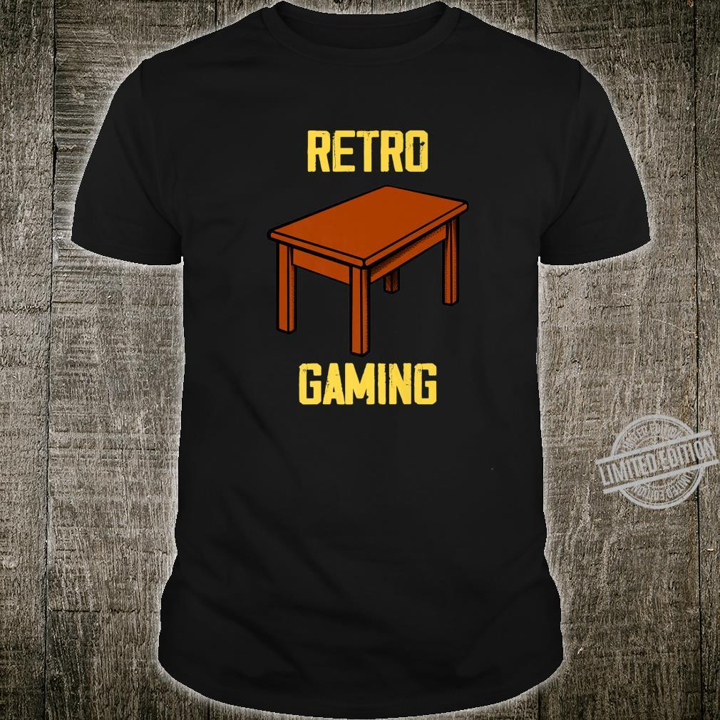Retro gamer board games table games saying Shirt