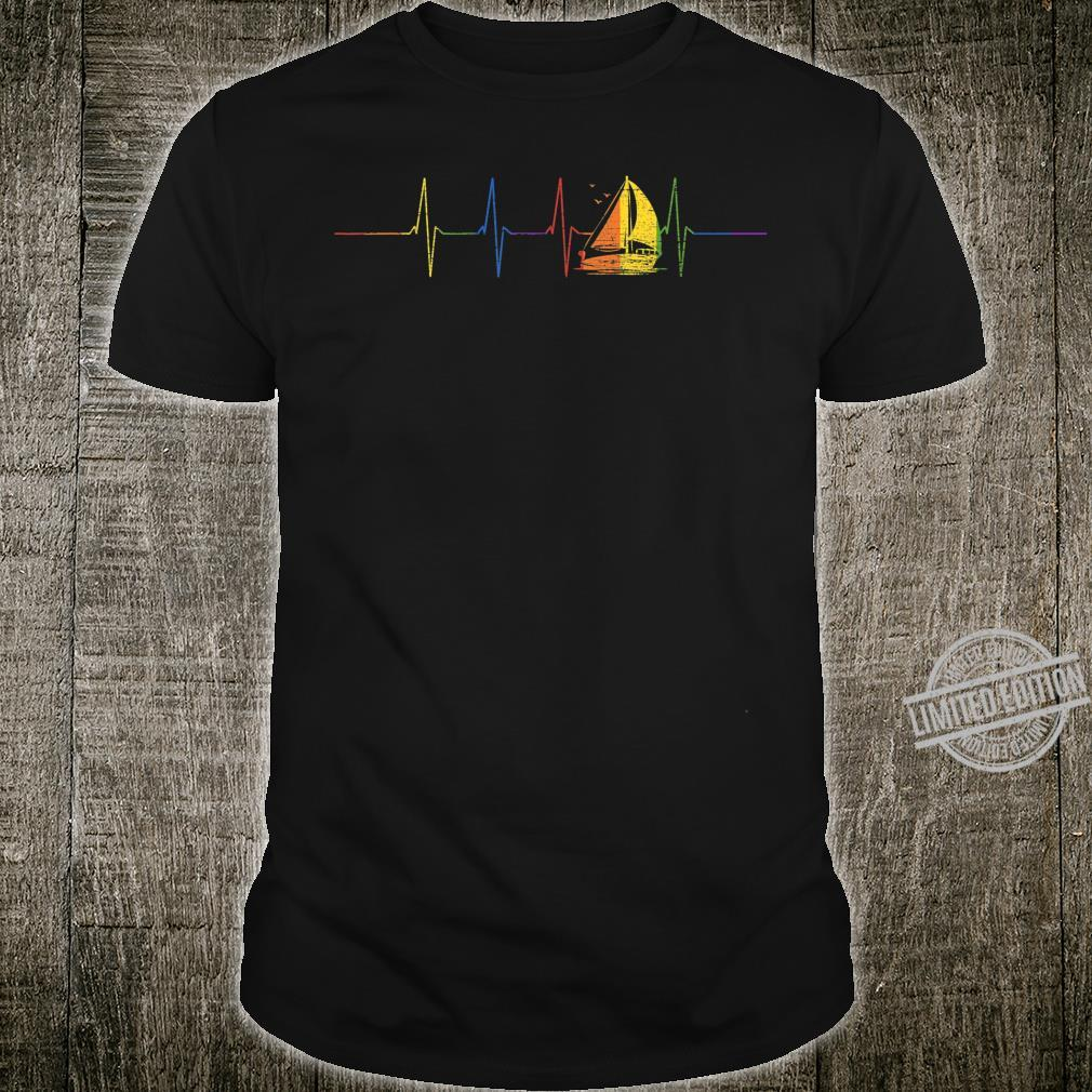 Sailor Idea Sail Boat LGBT Heartbeat Sailing Shirt