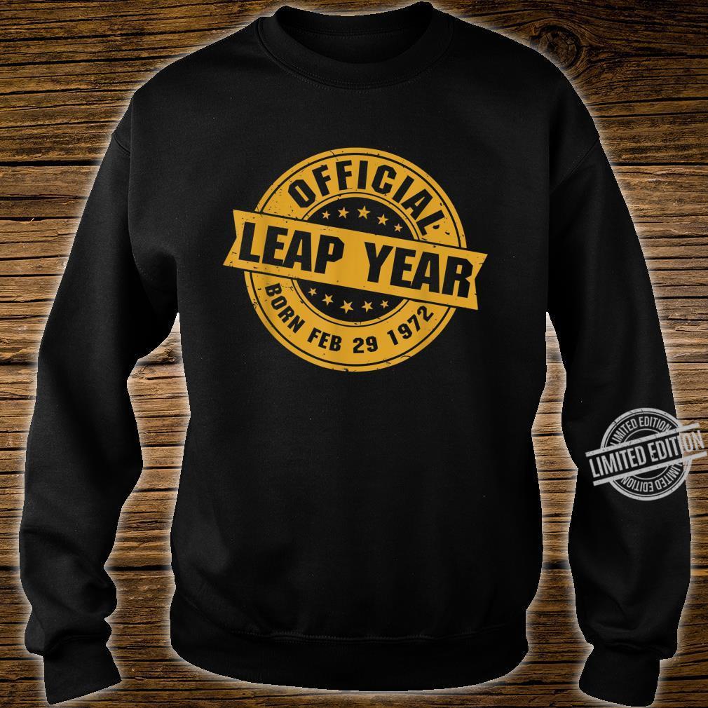 Schaltjahr 1972 Schalttag Schaltmonat 29. Februar Geschenk Shirt sweater