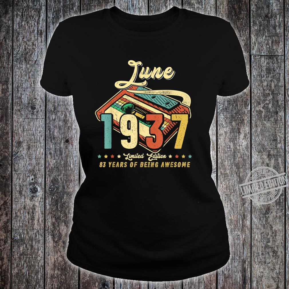 Vintage JUNE 1937 Made in 1937 83rd birthday 83 years old Shirt ladies tee