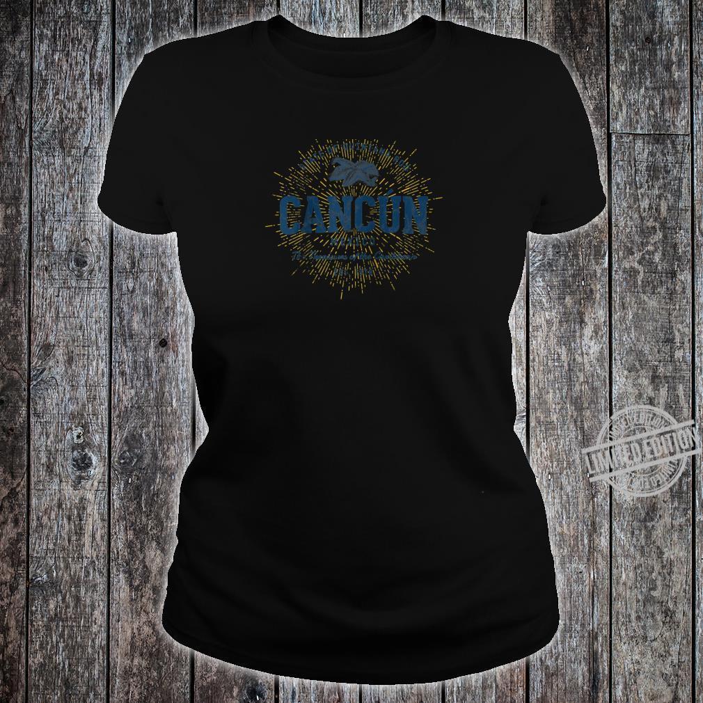 Vintage Retro Style Cancun Shirt ladies tee