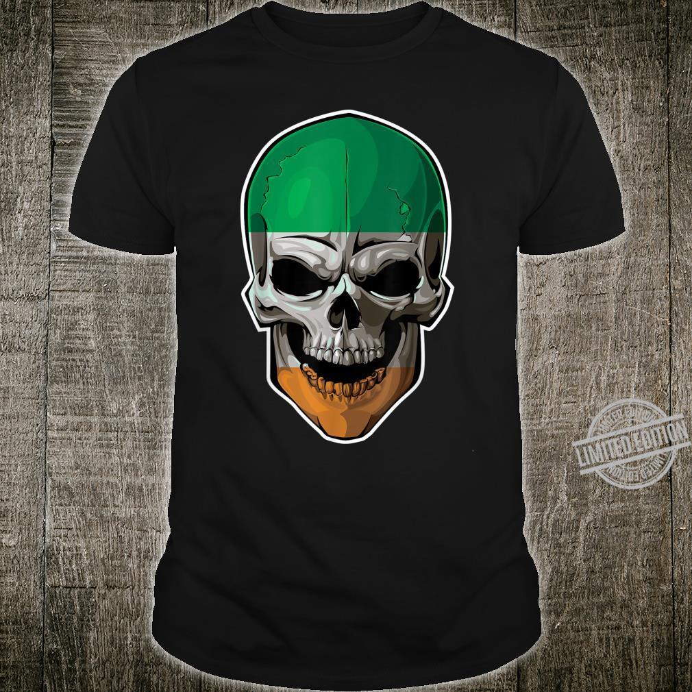 Vintage Shamrock Skull Irish Flag St Patrick Day Shirt