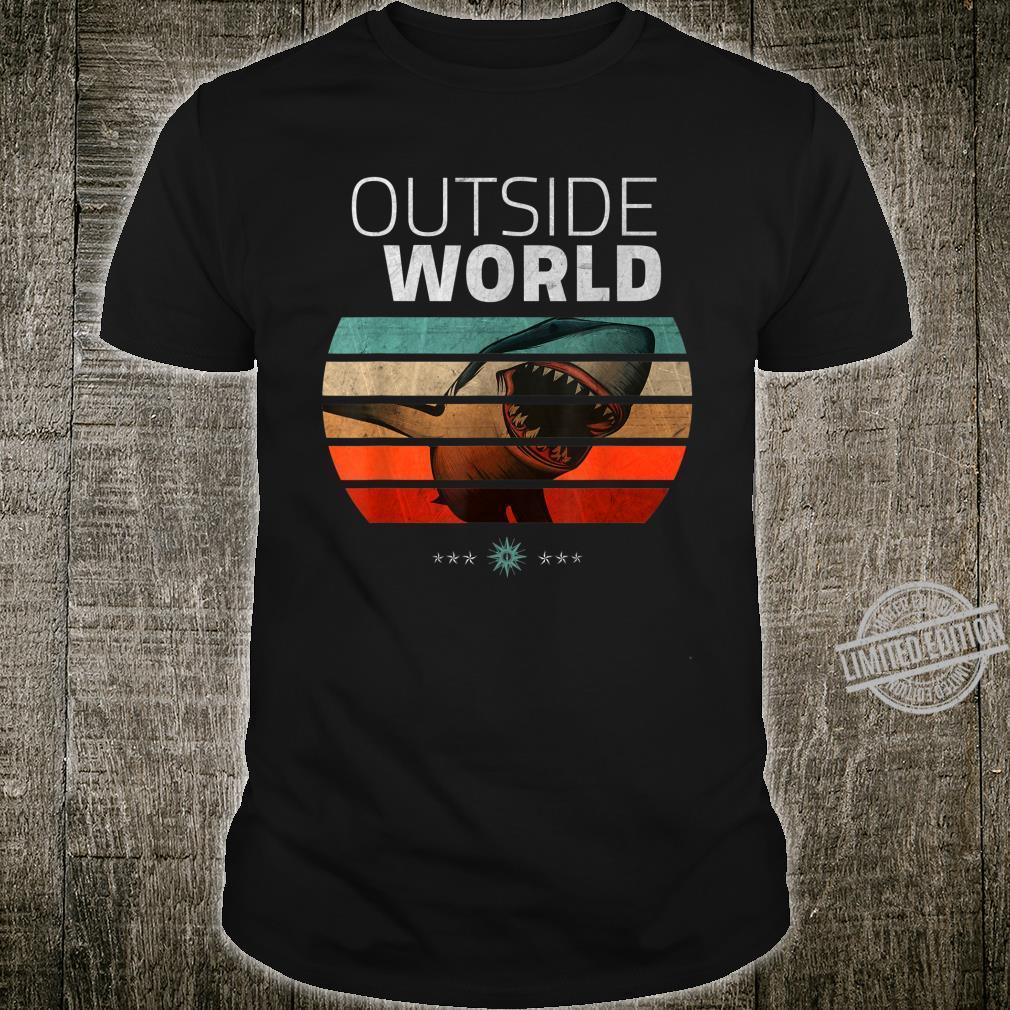 Vintage Shark Outside World And Shirt