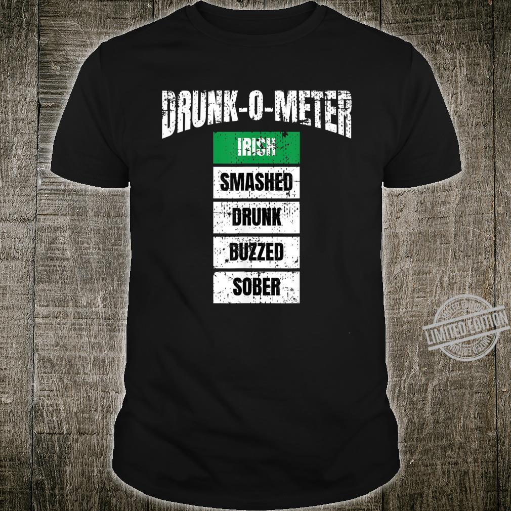 Vintage St Patricks Day DrunkOMeter Party Drinking Shirt