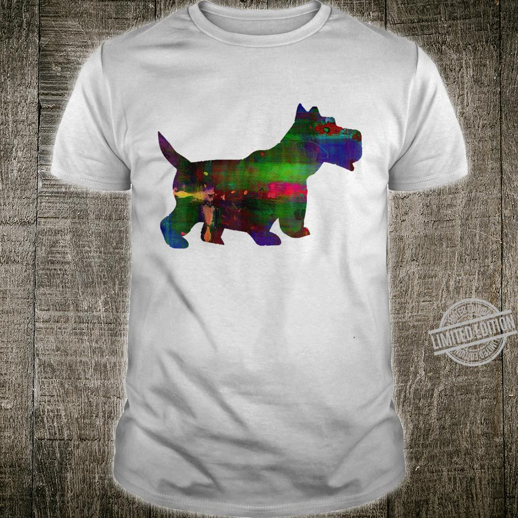 Watercolor Scottie Dog Scottish Terrier Design Shirt