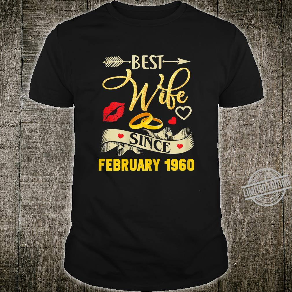 Womens 60th Wedding Anniversary Best Wife Since 1960 Shirt