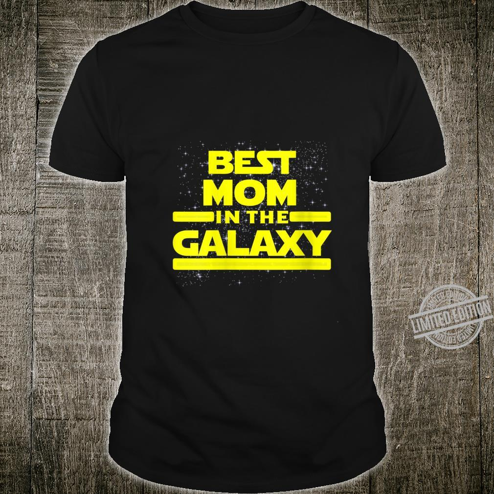 Womens Best Mom in Galaxy Shirt for Mom Star Shirt