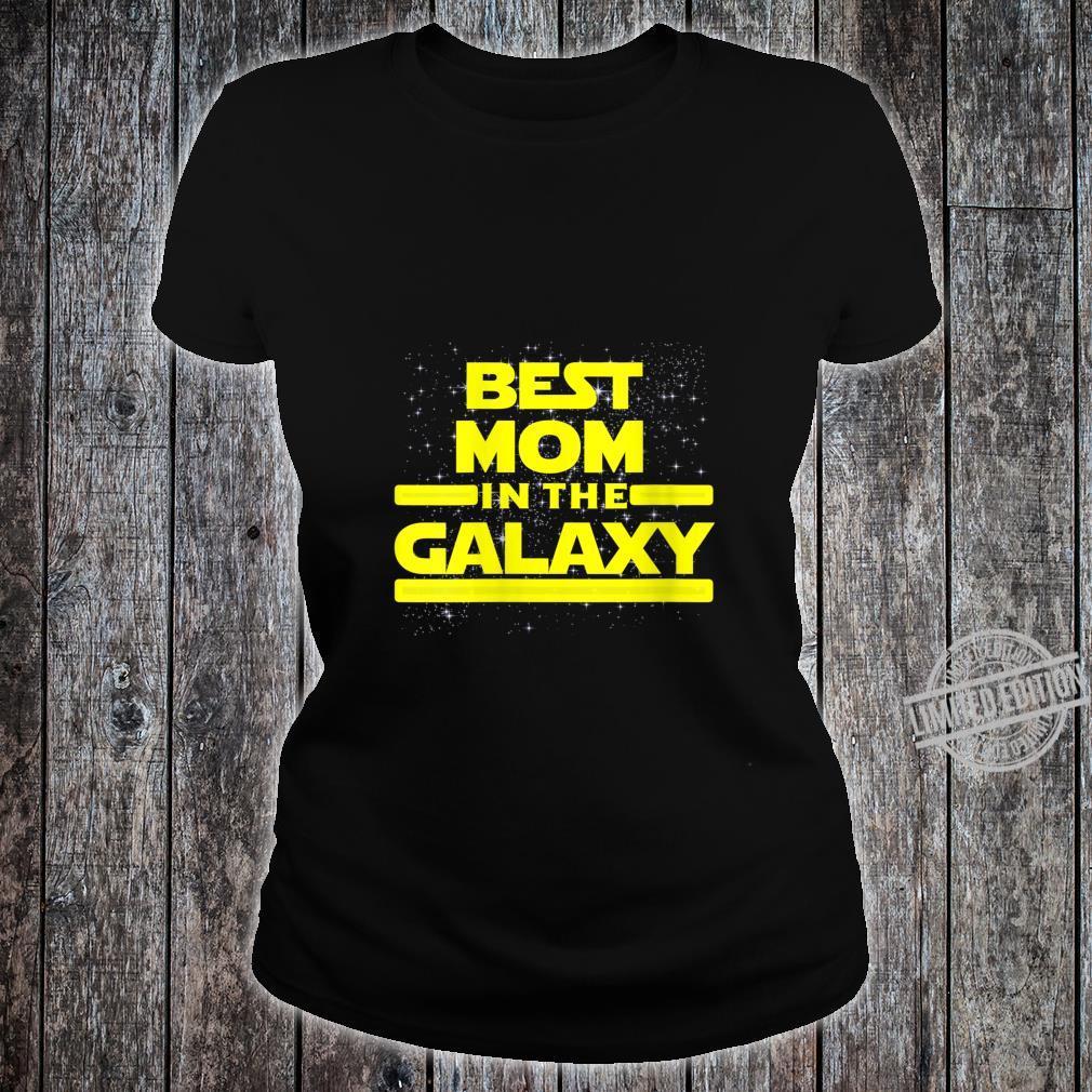 Womens Best Mom in Galaxy Shirt for Mom Star Shirt ladies tee
