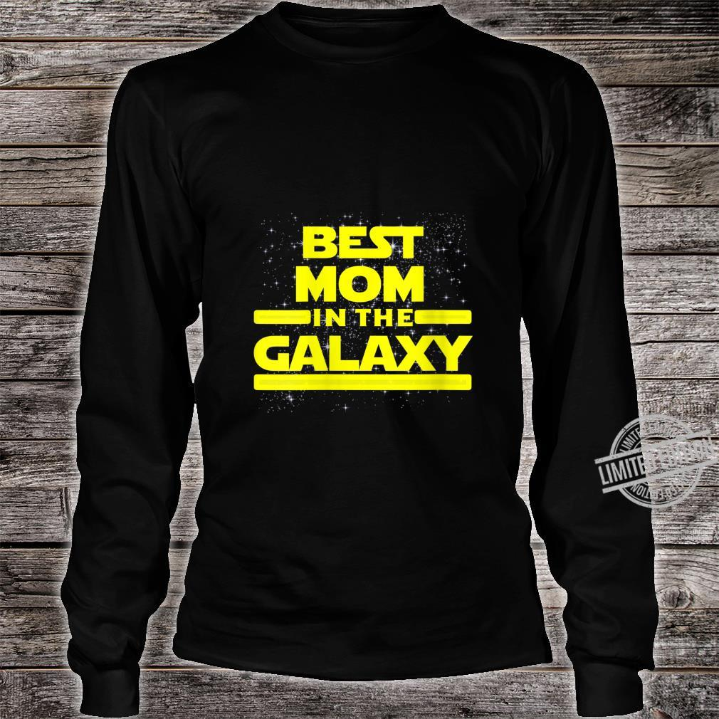 Womens Best Mom in Galaxy Shirt for Mom Star Shirt long sleeved