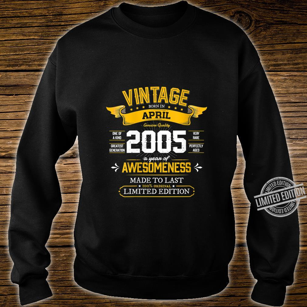 Womens Best of 2005 Vintage 15th Retro April 2005 Birthday Shirt sweater